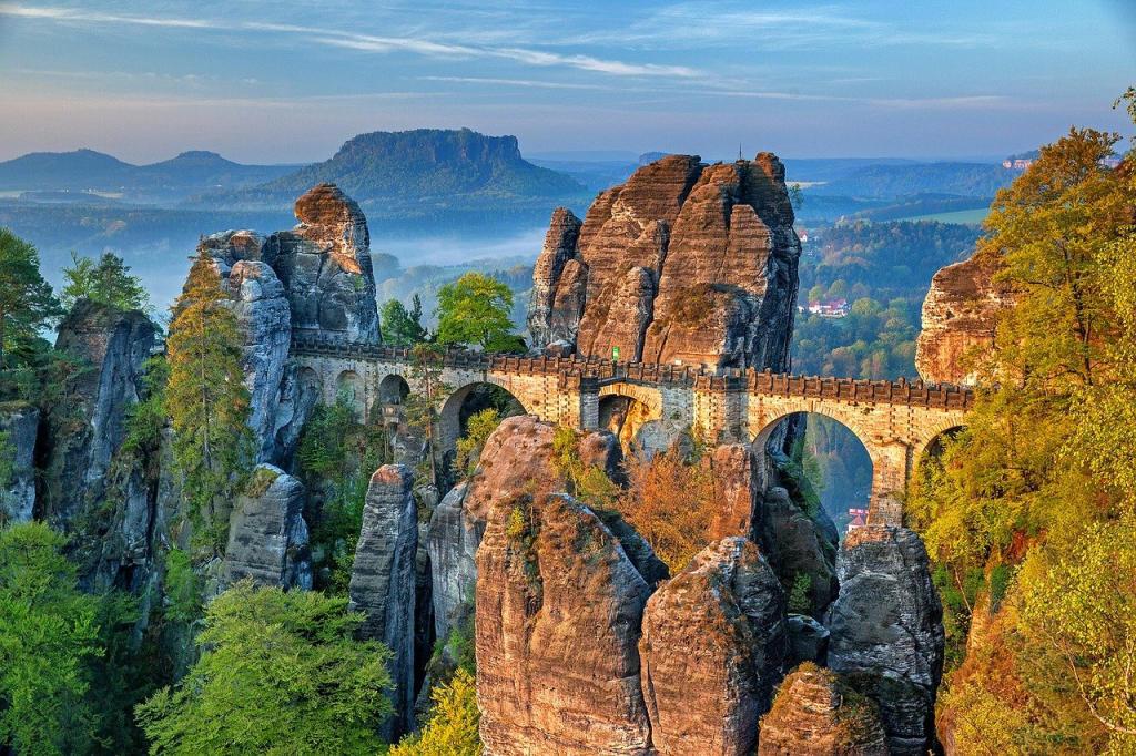 De Bastei Brug - Saksisch Zwitserland - Duitsland