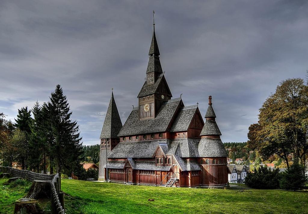 Harz - Harzgebergte   Staafkerk Hahnenklee